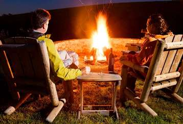 Bonfire dinner and Bar-be-cue facilities at Mapple Leisure Resort in Corbett National Park