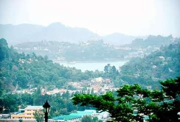 Beautiful Lake View from Mapple Hotel in Bhimtal,Uttarakhand