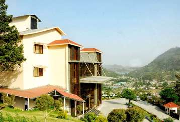 Top view from Mapple Bhimtal Hotel in Bhimtal