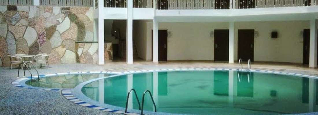 Indoor Swimming at Mapple Hotel in Bhimtal,Uttarakhand