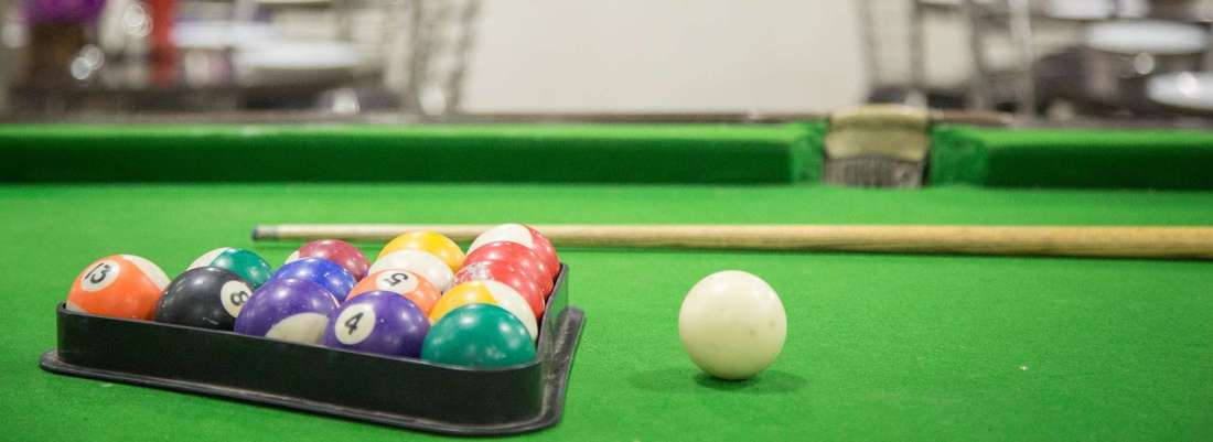 Roof Top Billiards Pool Table at Rockwell Plaza Hotel in Karol Bagh