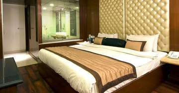 accommodation at aura hotel in pahar ganj